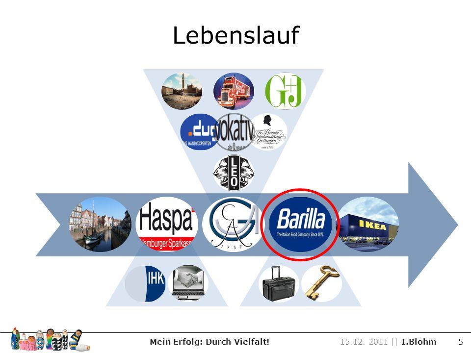 Lebenslauf Mein Erfolg: Durch Vielfalt!15.12. 2011 || I.Blohm 5