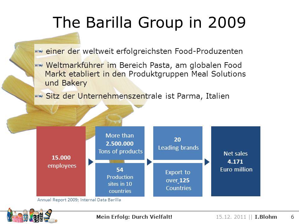 Barilla Produkte Meal solutions Mein Erfolg: Durch Vielfalt!15.12.