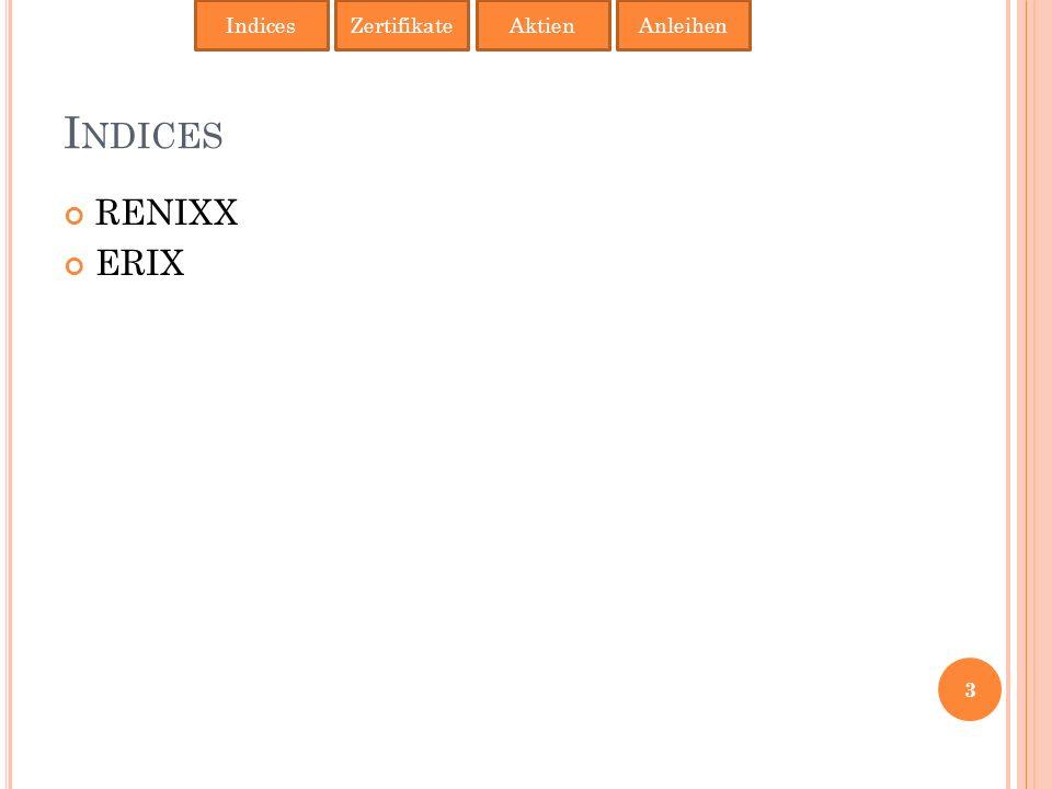 I NDICES RENIXX ERIX IndicesAktienAnleihenZertifikate 3