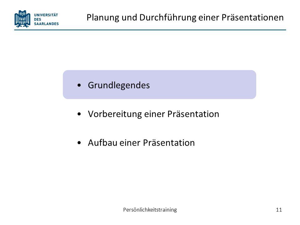 Definition (Hartmann, Funk & Nietmann, 2003) Persönlichkeitstraining12 Eine oder mehrere Personen stellen für eine Zielgruppe bestimmte Inhalte, also Sachaussagen oder Produkte, dar.