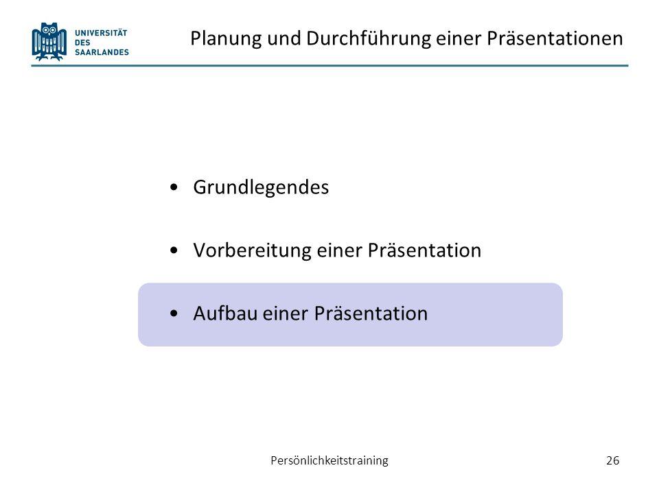 Einleitung – Hauptteil – Schluss 15 % der Präsentationszeit Evtl.