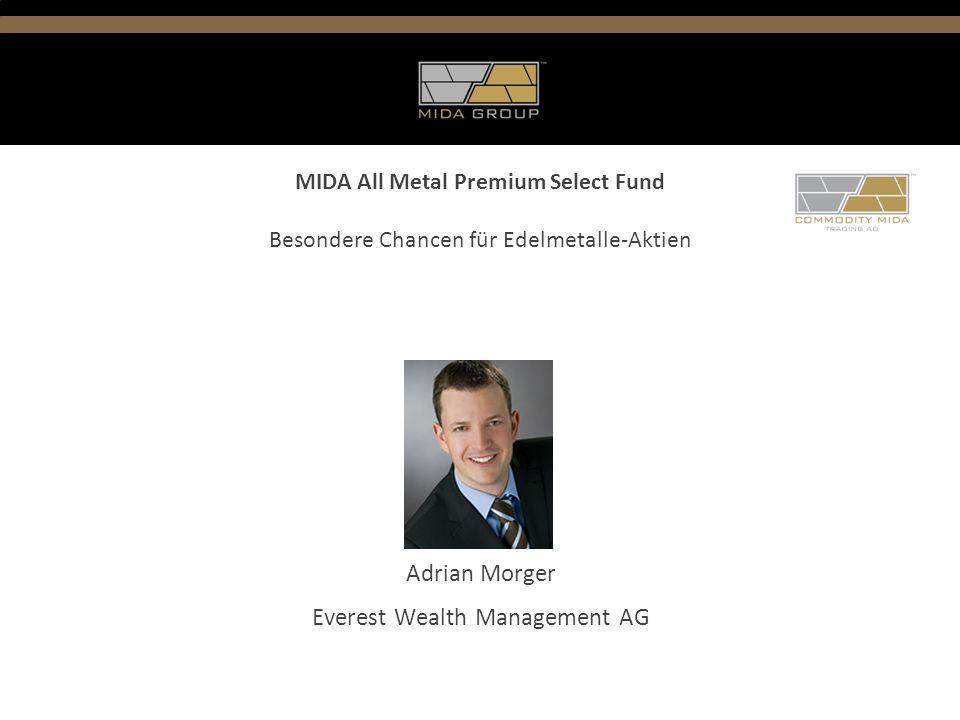Inhaltsverzeichnis 1.Wirtschaftliches Umfeld 2.Strategie MIDA All Metal Premium Select Fund 3.Fakten & Zahlen der Edelmetalle 4.Selektionsprozess 5.Zusammenfassung 6.Vision des Vermögensverwalters