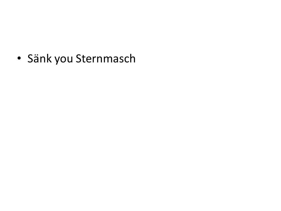 Sänk you Sternmasch