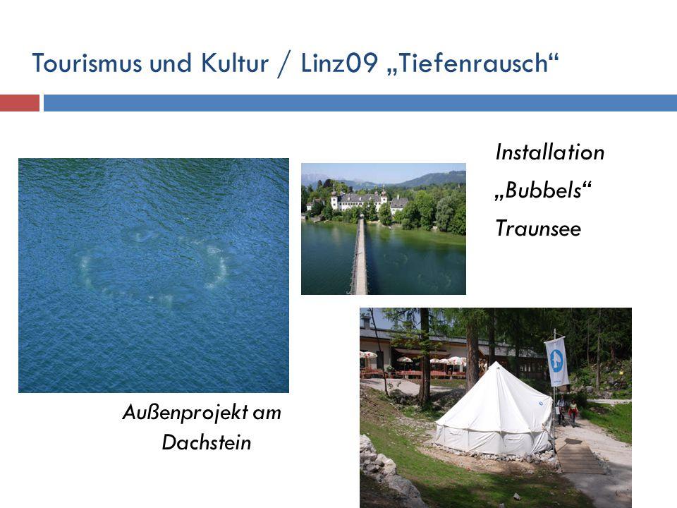 Tourismus und Kultur / Linz09 Tiefenrausch Außenprojekt am Dachstein Installation Bubbels Traunsee