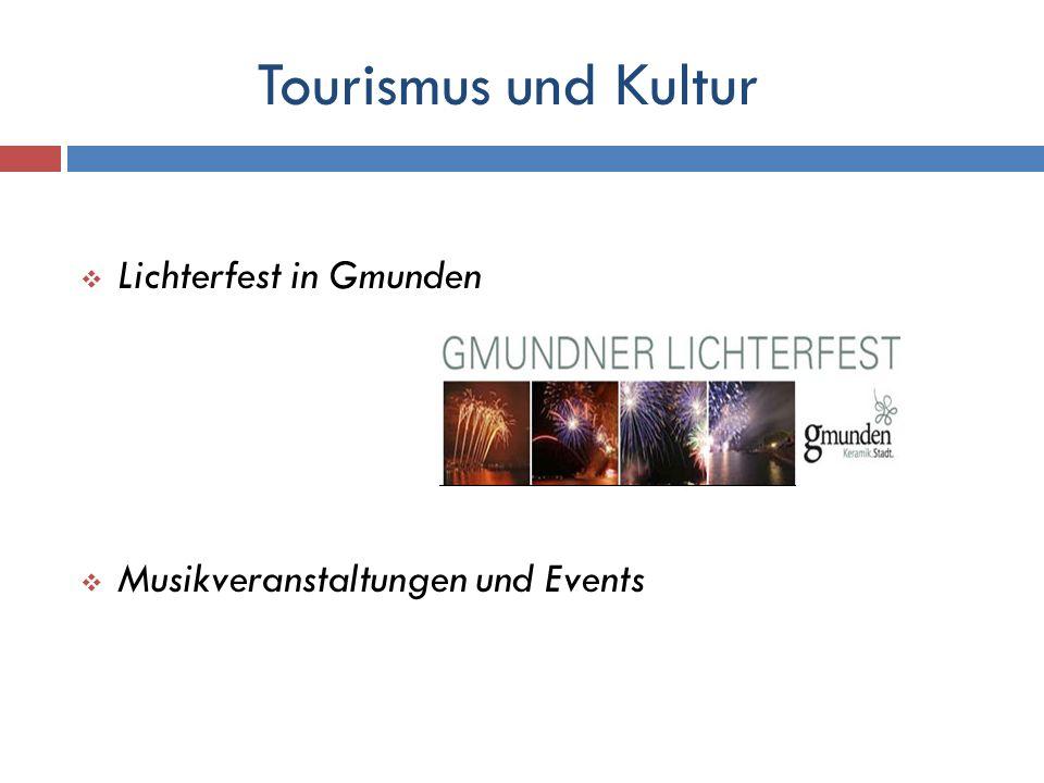 Tourismus und Kultur Lichterfest in Gmunden Musikveranstaltungen und Events