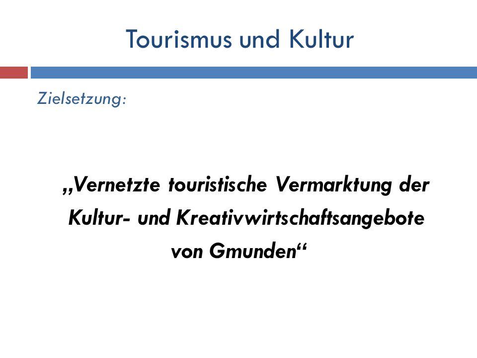 Zielsetzung: Vernetzte touristische Vermarktung der Kultur- und Kreativwirtschaftsangebote von Gmunden