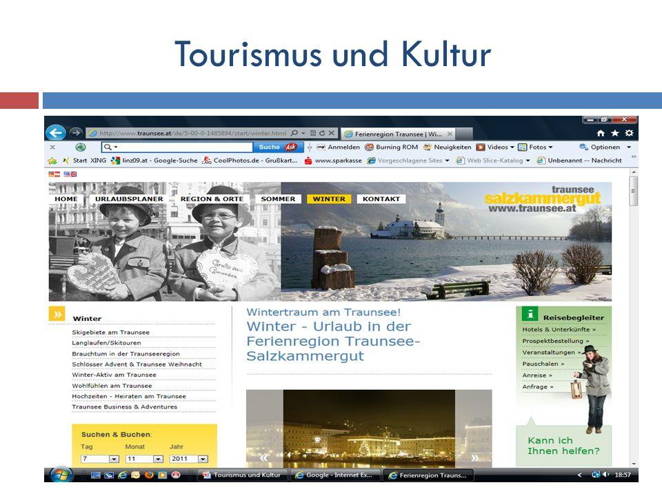 Engste Kooperation des Tourismusverbandes mit den kulturellen Institutionen bzw.