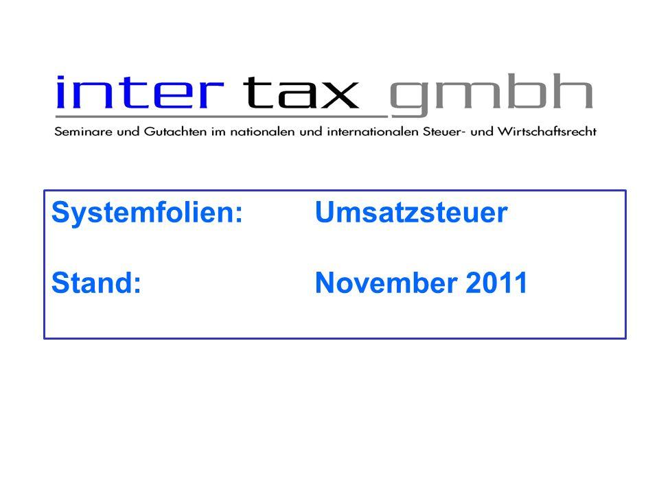 Steuerfreie innergemeinschaftliche Lieferung EU – Gemeinschaftsgebiet z.Z.