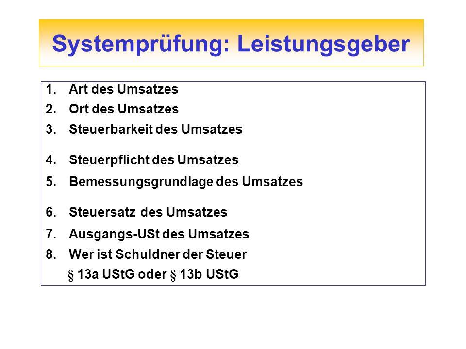 Reverse-Charge-Regel im Inland § 13b UStG EU – Tatbestand § 13b Abs.