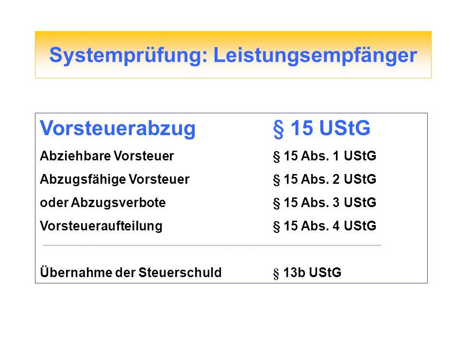 Gesetzänderung Änderungen des UStG zum 01.07.2011 Erweiterung der Reverse Charge Regel § 13b Abs.