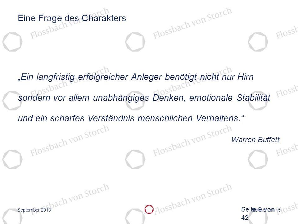 Seite 10 von 15 Flossbach von Storch Pentagramm September 2013 Seite 10 von 42