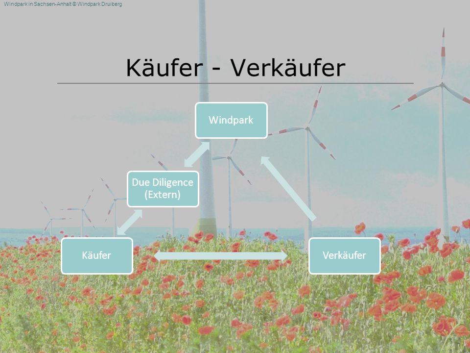 Windpark in Sachsen-Anhalt © Windpark Druiberg Käufer - Verkäufer WindparkVerkäuferKäufer Due Diligence (Extern)