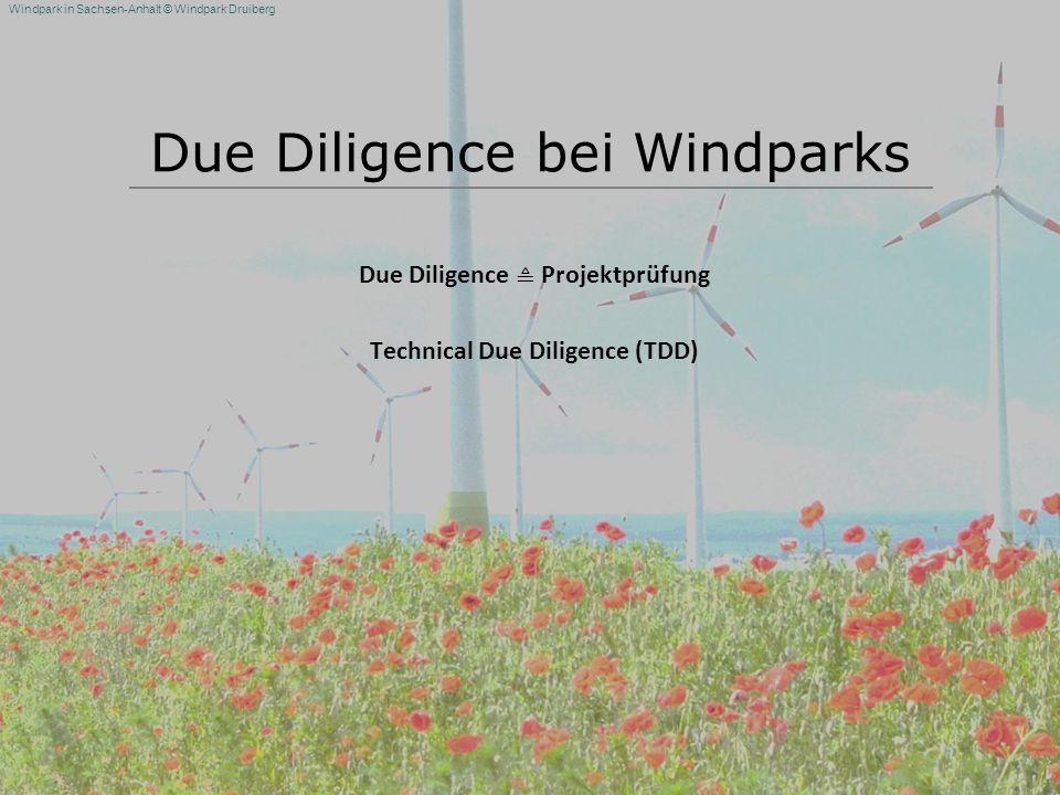 Windpark in Sachsen-Anhalt © Windpark Druiberg Due Diligence bei Windparks