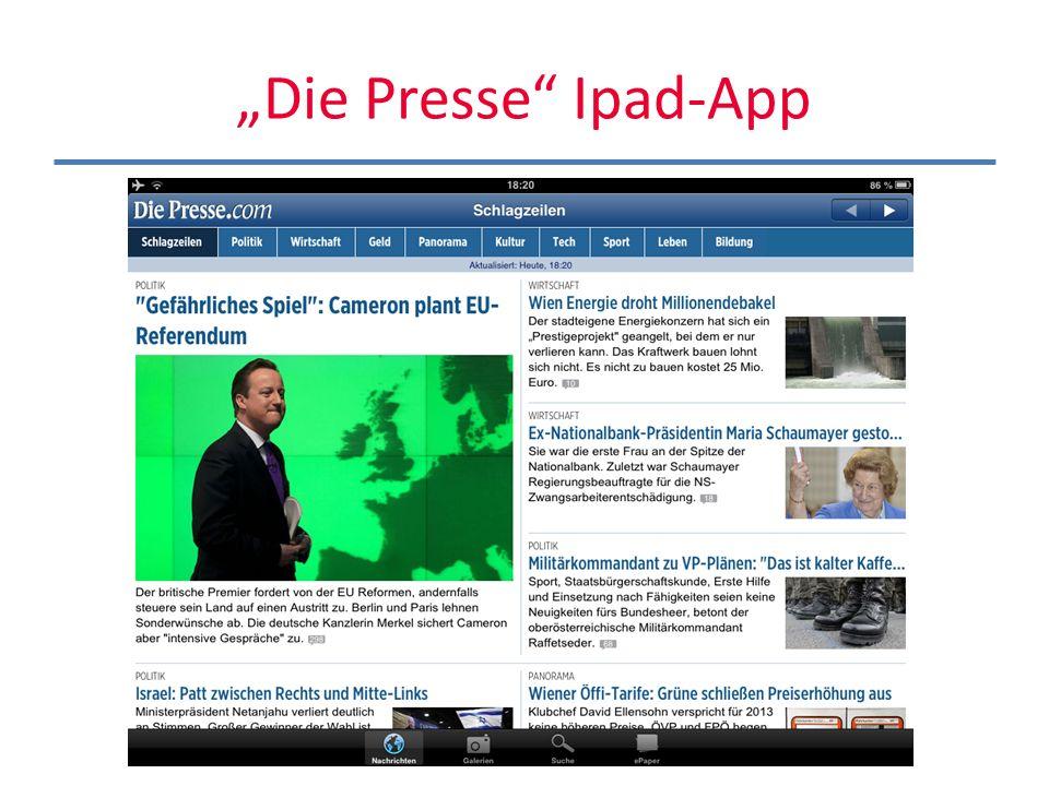 Die Presse Ipad-App