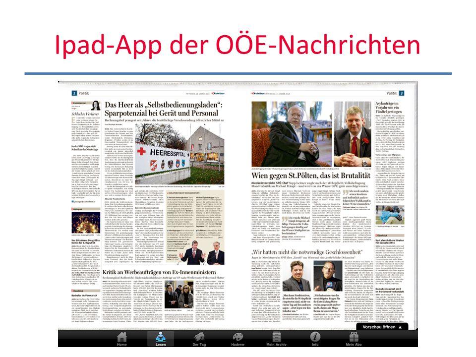 Ipad-App der OÖE-Nachrichten