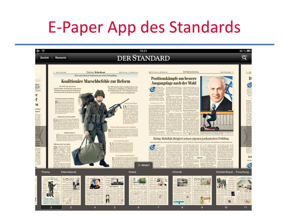 Der Standard Ipad-App