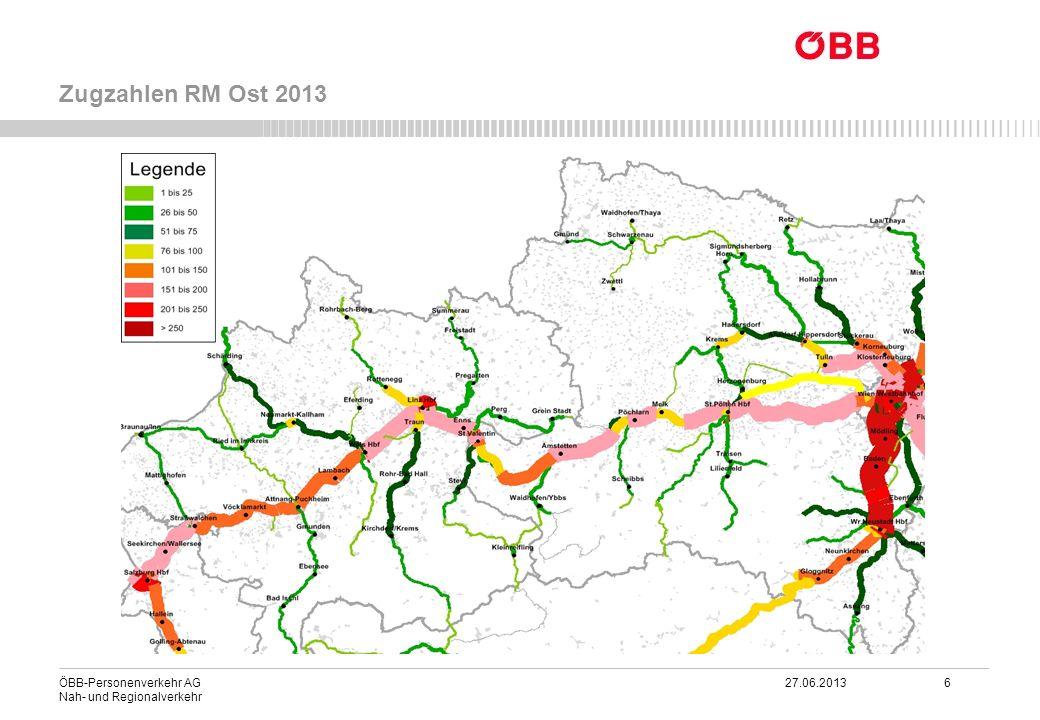 ÖBB-Personenverkehr AG 27.06.2013 27 Nah- und Regionalverkehr Netzgrafik integrierter Taktfahrplan