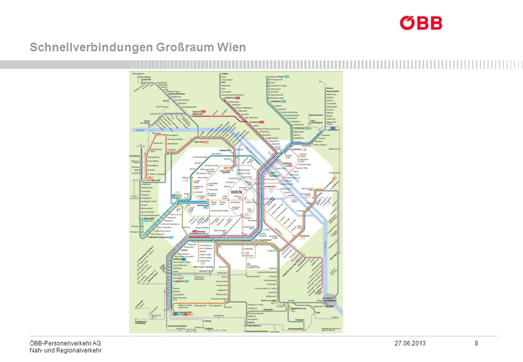 ÖBB-Personenverkehr AG 27.06.2013 8 Nah- und Regionalverkehr Schnellverbindungen Großraum Wien