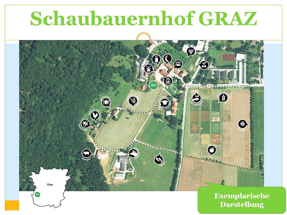 Schaubauernhof GRAZ Exemplarische Darstellung