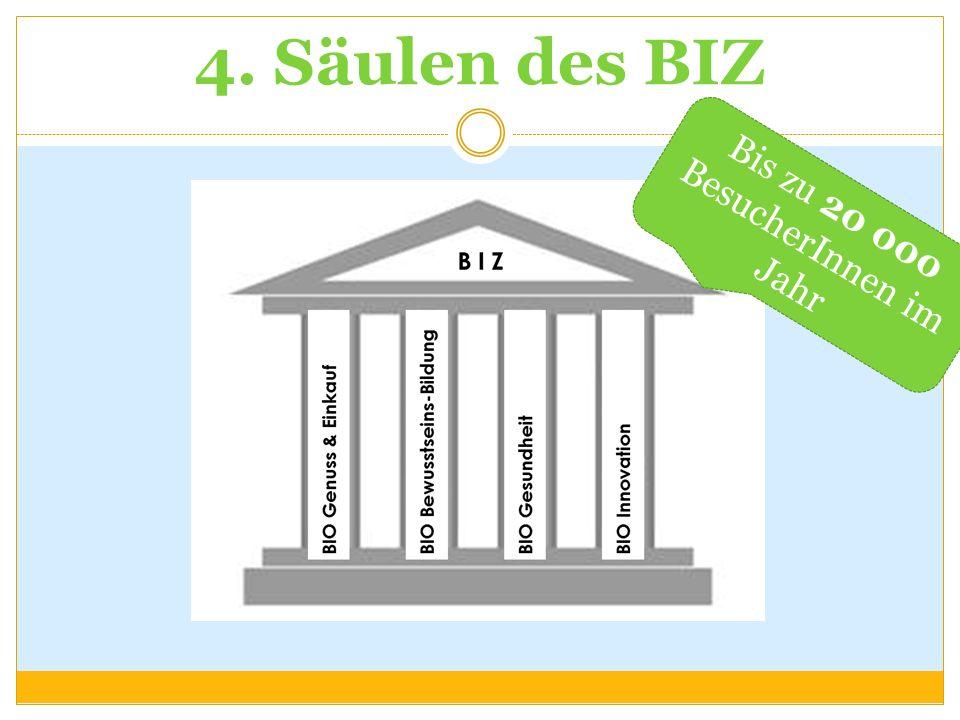 4. Säulen des BIZ Bis zu 20 000 BesucherInnen im Jahr