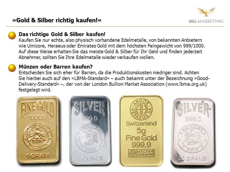 »Gold & Silber richtig kaufen!« Das richtige Gold & Silber kaufen! Kaufen Sie nur echte, also physisch vorhandene Edelmetalle, von bekannten Anbietern