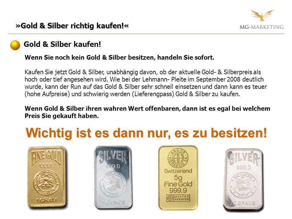 »Gold & Silber richtig kaufen!« Gold & Silber kaufen! Wenn Sie noch kein Gold & Silber besitzen, handeln Sie sofort. Kaufen Sie jetzt Gold & Silber, u