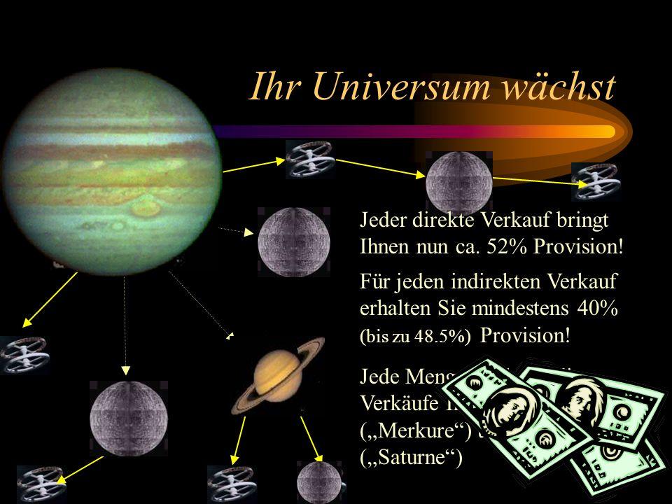 Ihr Universum wächst Mit 500 Steps in 90 Tagen haben Sie den JUPITER erreicht! und das bedeutet...