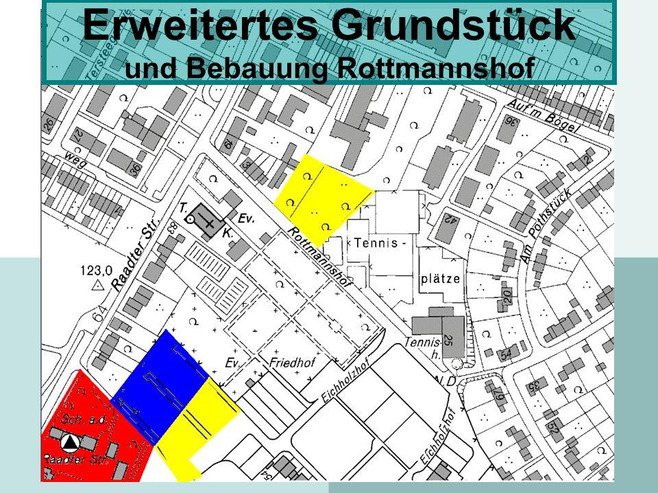Erweitertes Grundstück und Bebauung Rottmannshof