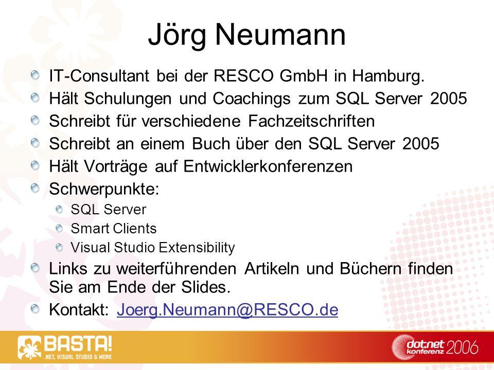 T-SQL - Techniken und Neuerungen Jörg Neumann RESCO GmbH Hamburg