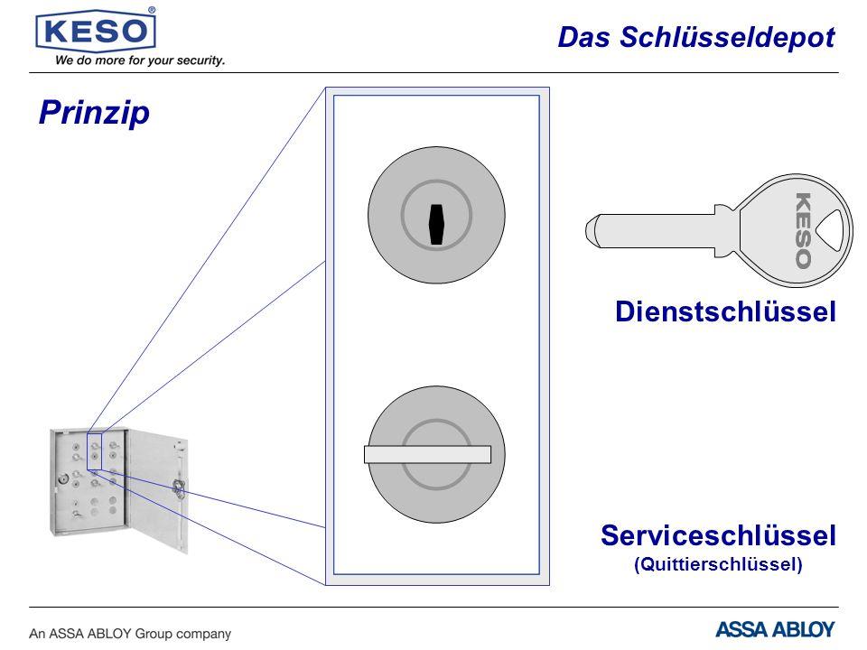 Dienstschlüssel Serviceschlüssel (Quittierschlüssel) Prinzip