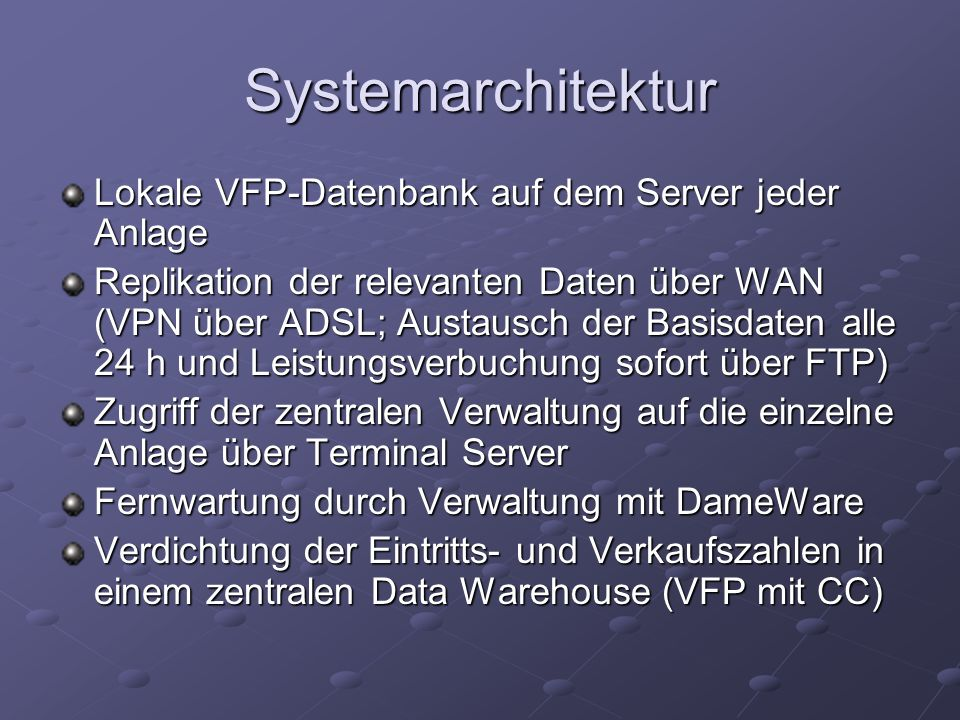 Teile des Data Warehouse: Staging Area und OLAP resp.