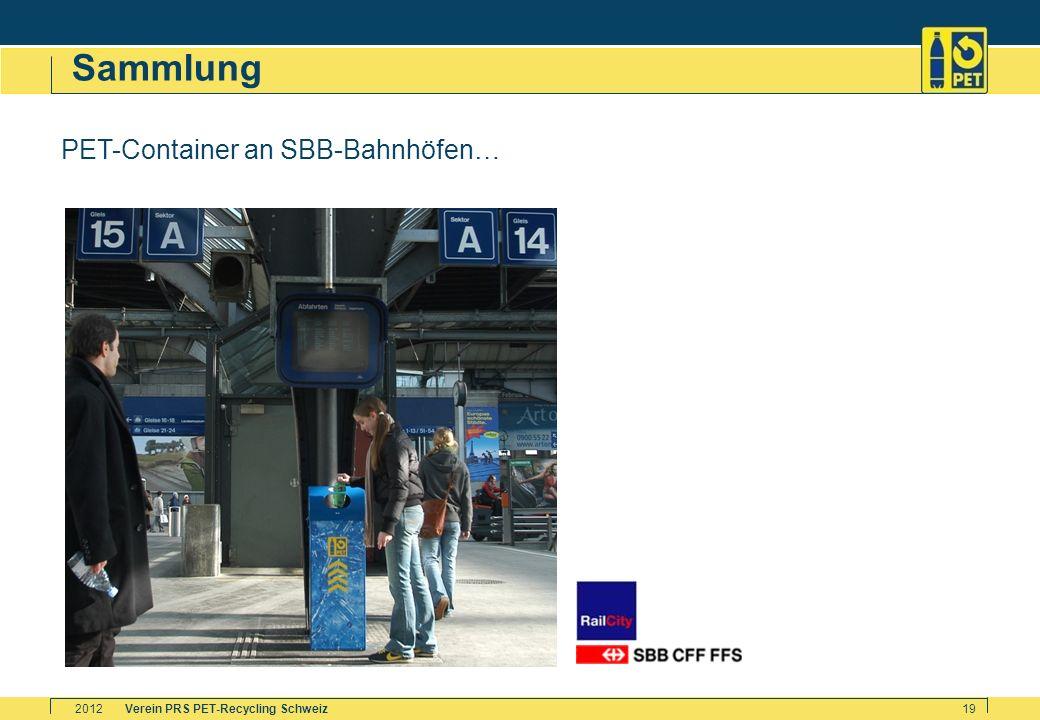 Verein PRS PET-Recycling Schweiz2012 19 Sammlung PET-Container an SBB-Bahnhöfen…