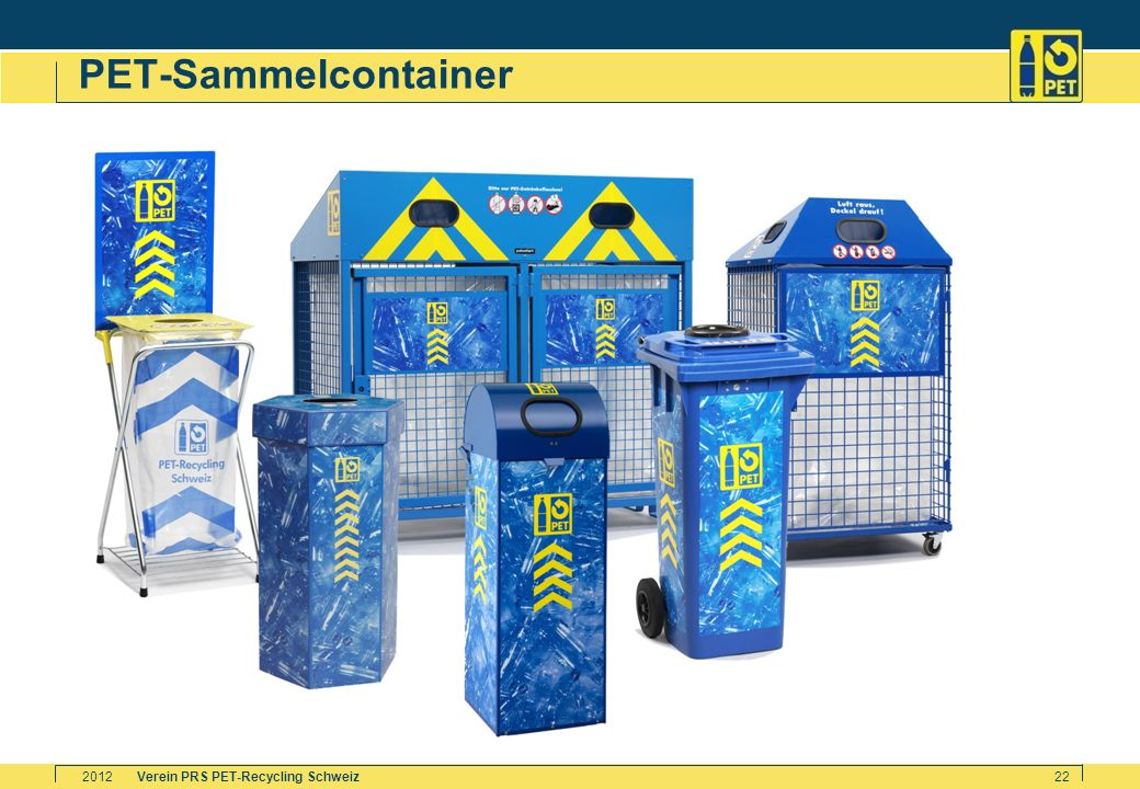 Verein PRS PET-Recycling Schweiz2012 22 PET-Sammelcontainer