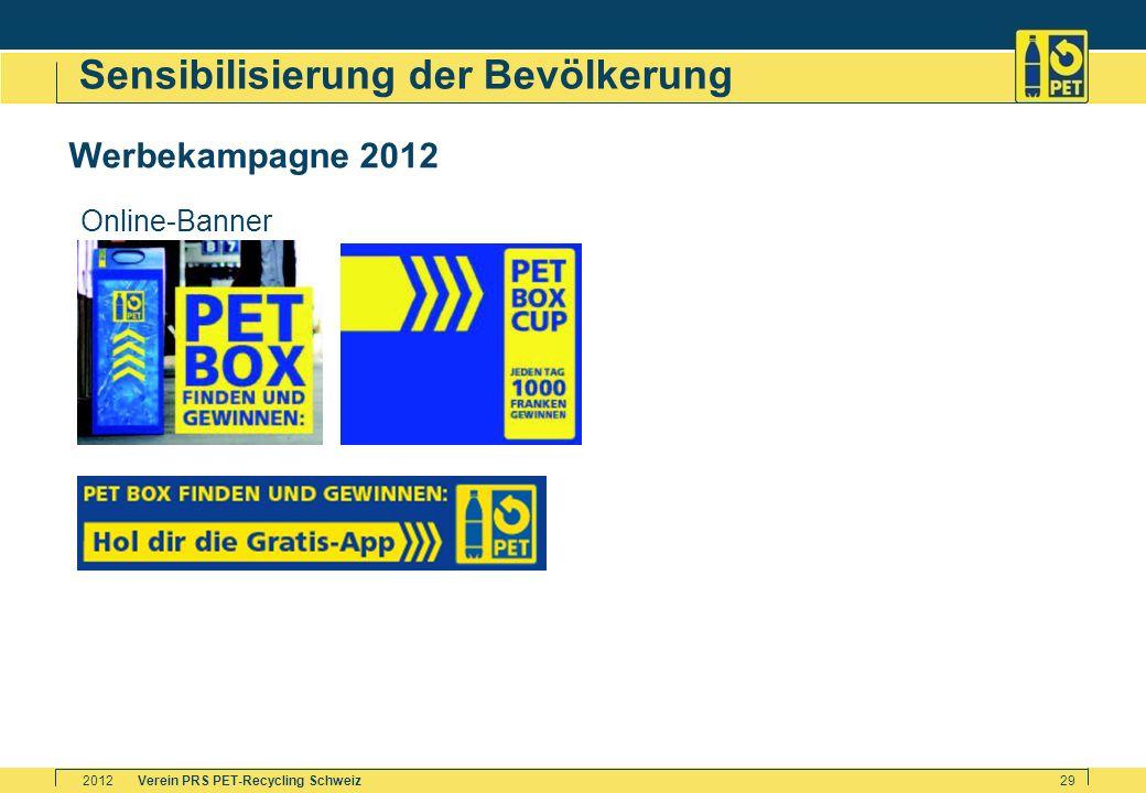 Verein PRS PET-Recycling Schweiz2012 29 Sensibilisierung der Bevölkerung Werbekampagne 2012 Online-Banner
