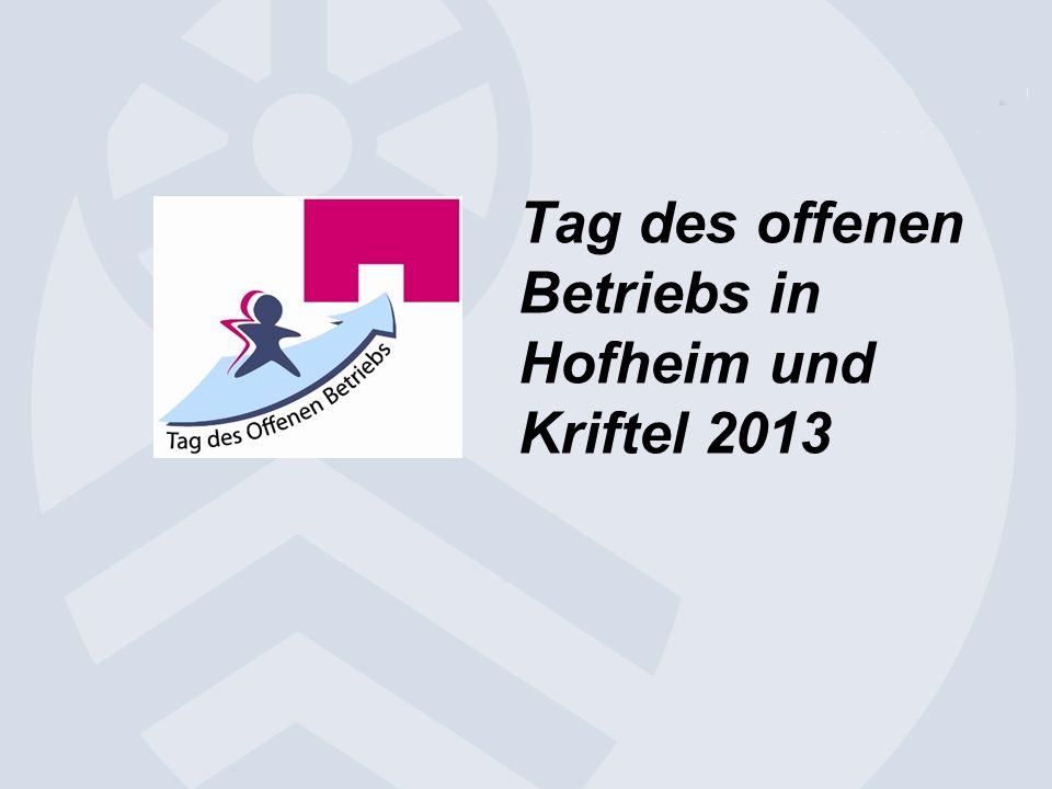 Tag des offenen Betriebs in Hofheim und Kriftel 2013