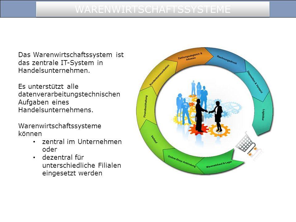Das Warenwirtschaftssystem ist das zentrale IT-System in Handelsunternehmen. Es unterstützt alle datenverarbeitungstechnischen Aufgaben eines Handelsu