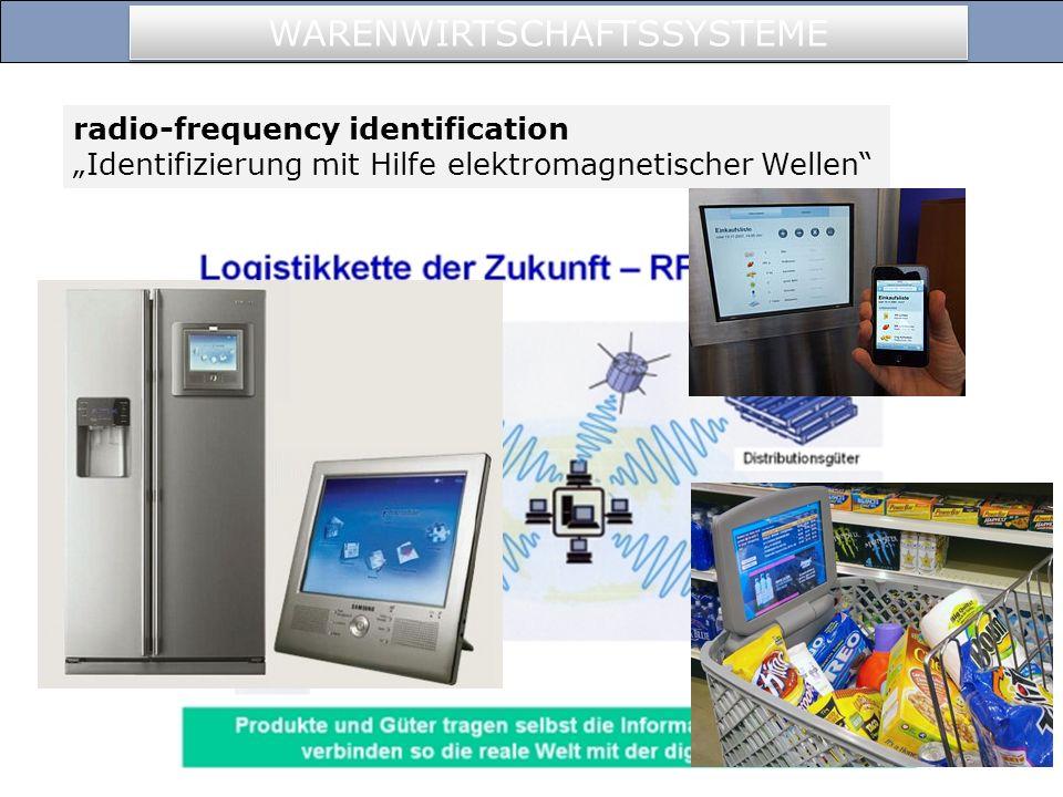 WARENWIRTSCHAFTSSYSTEME radio-frequency identification Identifizierung mit Hilfe elektromagnetischer Wellen
