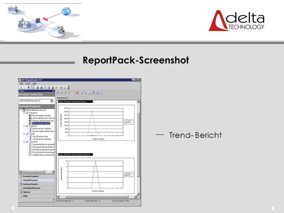 ReportPack-Screenshot Trend- Bericht