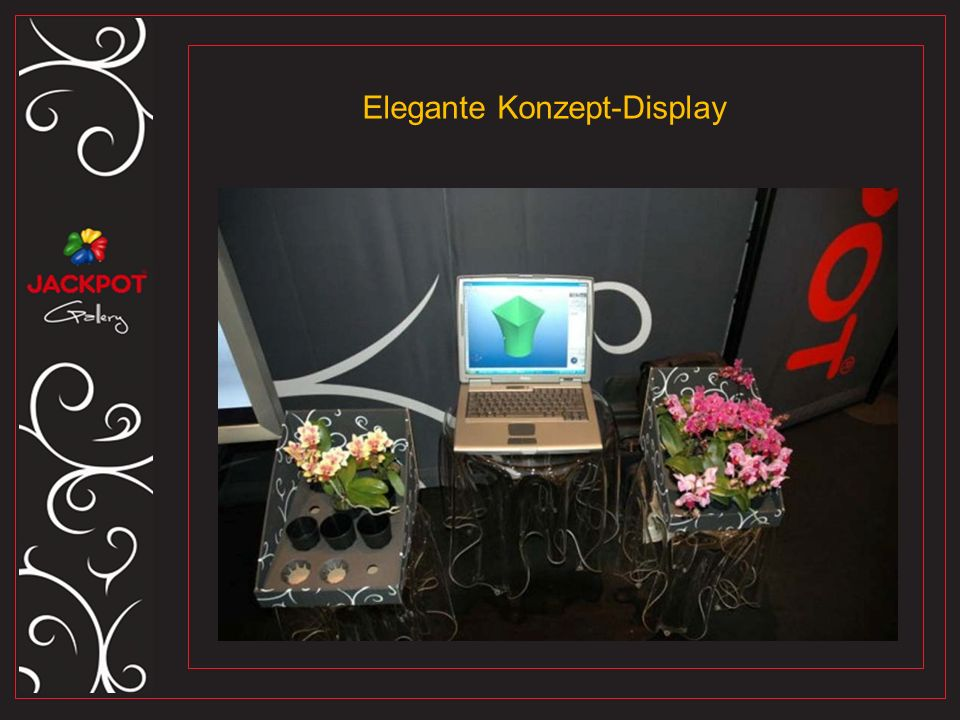 Elegante Konzept-Display