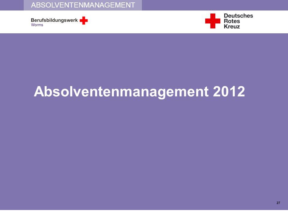 ABSOLVENTENMANAGEMENT Absolventenmanagement 2012 27