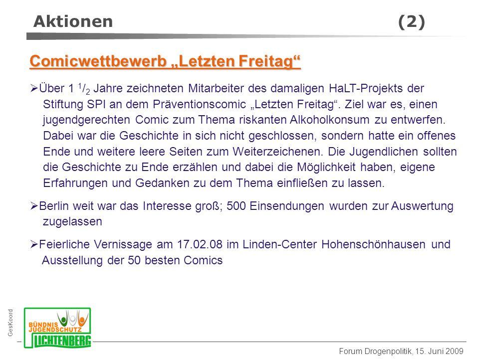 GesKoord Forum Drogenpolitik, 15.
