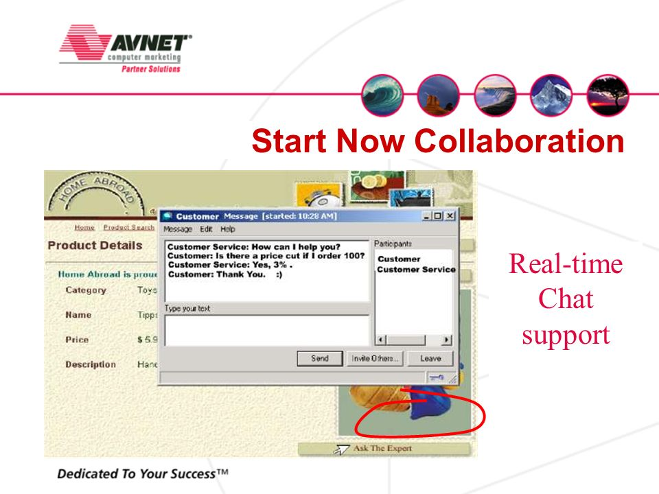 Real-time Chat support Start Now Collaboration