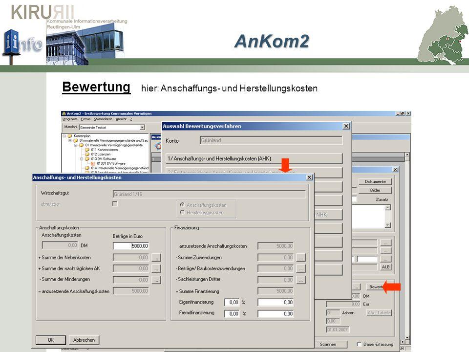 Bewertung hier: Anschaffungs- und Herstellungskosten AnKom2