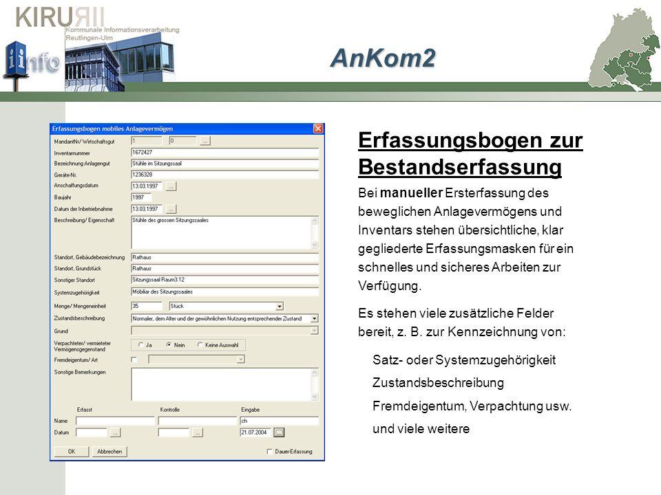 Datenimport Ein Datenimportassistent ermöglicht Ihnen die einfache Übertragung der ALB-Daten nach AnKom2.