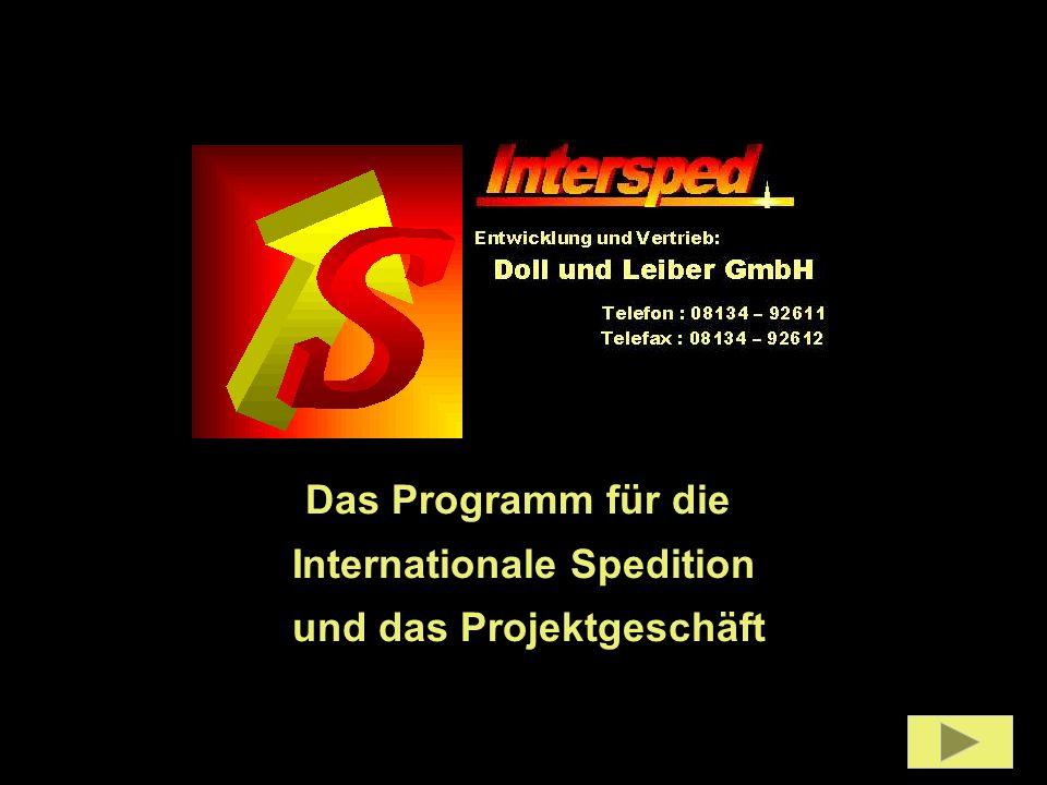 Das Programm für die Internationale Spedition und das Projektgeschäft