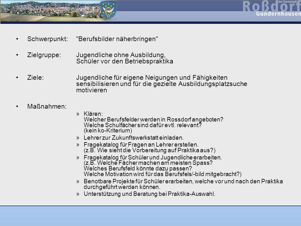 www.rossdorf.de/aktuelleswww.rossdorf.de/aktuelles - Ausbildungsdatenbank PDF-Dateien für Ausbildungsplätze, Praktika und Ferienjobs Aussendung der Fragebogen: 09.06.2005