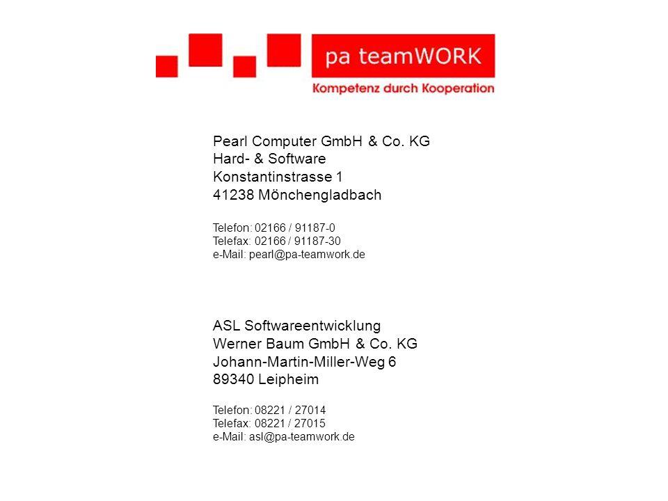 Pearl Computer GmbH & Co. KG Hard- & Software Konstantinstrasse 1 41238 M ö nchengladbach Telefon: 02166 / 91187-0 Telefax: 02166 / 91187-30 e-Mail: p