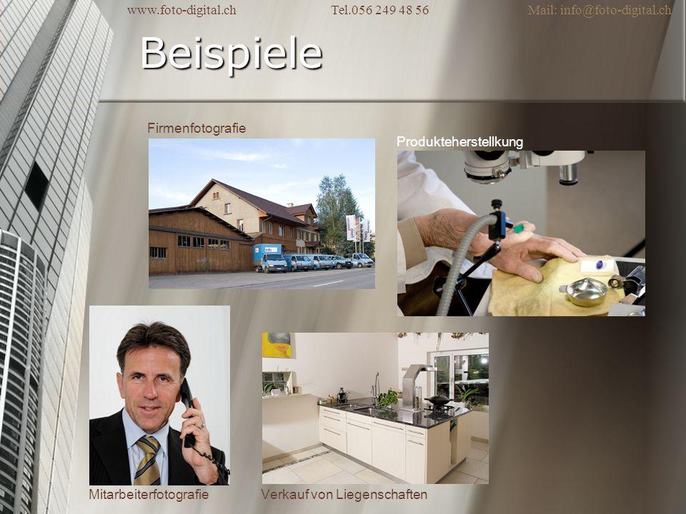 Beispiele Firmenfotografie Produkteherstellkung Mitarbeiterfotografie Verkauf von Liegenschaften