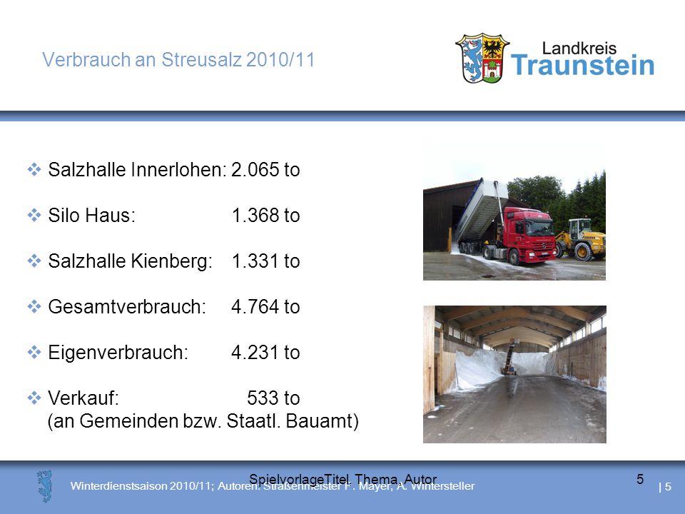 | 6 Winterdienstsaison 2010/11; Autoren: Straßenmeister P.