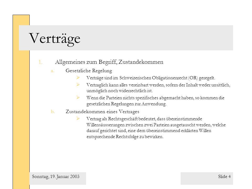 Slide 15Sonntag, 19. Januar 2003
